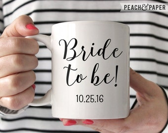 Newly Engaged Gift For Engagement Gift Bride To Be Gift For Bride Gift Bridal Shower Gift Engaged Coffee Mug Bride To Be Mug Getting Married