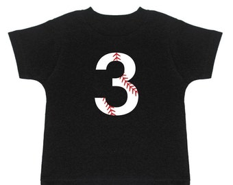 3rd Birthday Shirt - Baseball Birthday - Third Birthday - 3rd Birthday Outfit - 3 Year Old Birthday - Three Birthday - Three Year Old