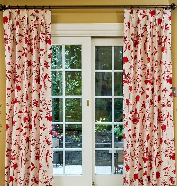 Custom Drapes Cotton Linen Drapes Pinch Pleat By