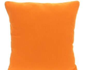 Solid Orange Pillow Covers, Cushion Covers, Decorative Throw Pillows, Euro Sham, Pillows for Couch Bed, Accent Pillow, One or More All Sizes