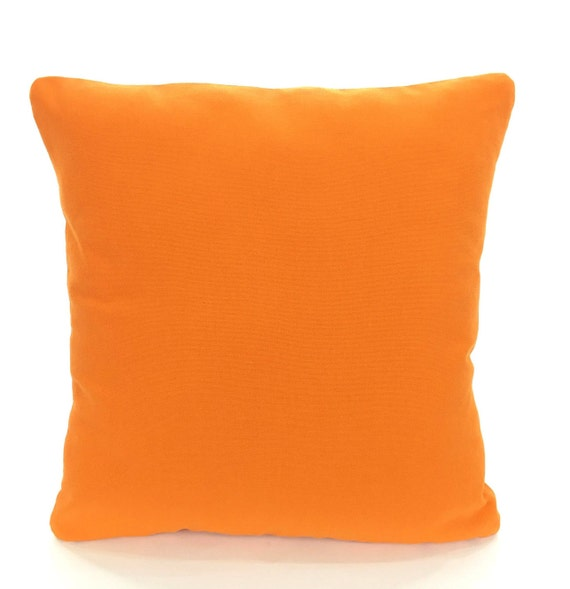 Solid Orange Decorative Pillows : Solid Orange Pillow Covers Cushion Covers Decorative Throw