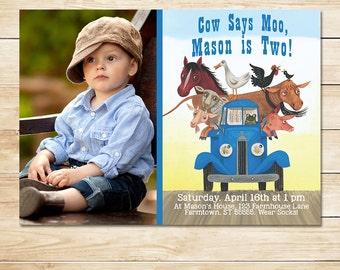 The Little Blue Truck Birthday Invitation Photo //Little Blue Truck Invitation // Little Blue Truck Party // Little Blue Truck Party Favors