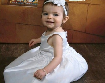 baptism headband, white headband baby, baby headband, diamond headband, Valentines headband, flower girl headband, christening headband