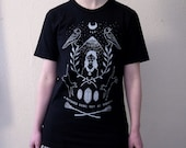 Witch Mountain Tee, Unisex Fit 100% Black Cotton T-shirt,