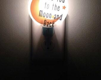 I Love You to the Moon and Back - Nursery Decor - Nursery Lighting - Baby Shower Gifts - Night Lights - Kids Lights - Moon And Stars