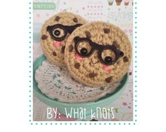 Crochet pattern Cookie Pattern Amigurumi One Smart Cookie Kawaii Glasses Beginner Easy Quick Geekery DIY Play Food