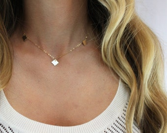 Charm Layering Necklace, Necklace, Everyday Necklace, Delicate and Dainty Necklace, Simple Necklace, Gold or Silver Necklace
