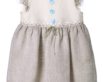 Girls linen dress  Etsy