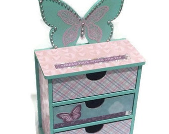 Butterfly Storage Drawers & Organiser