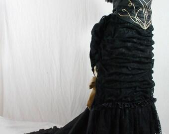 "Historical Bustle 1870 ""Shadow"" Original concept dress"