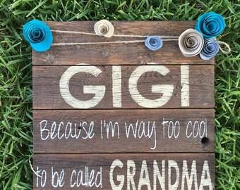 GIGI Wood Sign