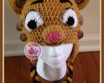 Daniel Tiger's Neighborhood Crochet Hat Made with Soft yarn