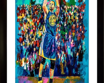 70% SALE - Stephen Curry Fine-Art LIMITED Edition Paper Print From an Original Hand-Painted (Not DIGITAL/Computer) Artwork By Winford