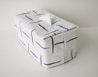 WabiSabi Minimal Hand Painted Canvas Tissue Box Cover