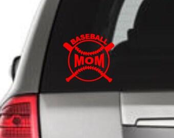 Baseball Mom Vinyl Decal, Baseball Mom Car Decal, Baseball Mom Window Decal, Mom Decal, Vinyl Window Decal, Laptop Decal, Window Sticker,