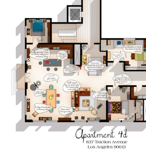 Fascinating Tv Show Apartment Floor Plans Contemporary Best idea