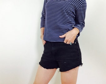 Reserved- French striped shirt french shirt nautical shirt sailor shirt blue and white