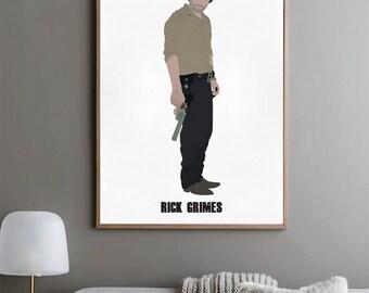 Rick Grimes - The Walking Dead Poster - Minimalist Art Print