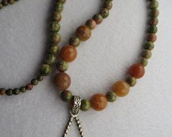 Sterling Silver and Natural Stone Necklace