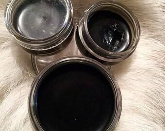 Charcoal-shea-coconut Gel Eyeliner, VEGAN Gel Eye-lier, 100% Natural Powdered Kohl Liner for Eyes, Toxin Free Eye-Liner, Eye-cat Eye-Liner