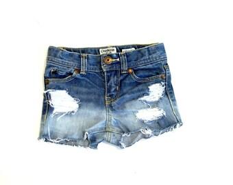 Eva Cutoff Shorts Baby Toddler Child Girl Ripped Denim Shorts Distressed Denim Shorts
