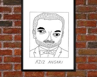 Badly Drawn Aziz Ansari - Poster