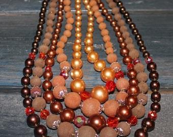 Vintage Beaded Necklace Costume Jewelry