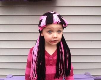 Draculaura Wig, Draculaura Costume, Monster High Costume, Kids Costumes, Draculaura, Kids Wigs, Monster High, Yarn Wigs, Monster High Wig