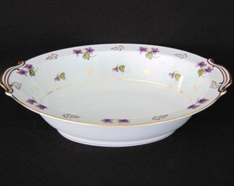 "Vintage 1950'S NORITAKE ""AVALON"" #5150 - Oval Vegetable/Serving Bowl - Lovely!"