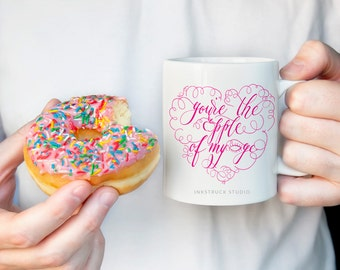 Love quote mug > Gift for her  > Valentine's day gift > Valentine's day mug > Coffee mug > calligraphy mugs > love quote coffee mug