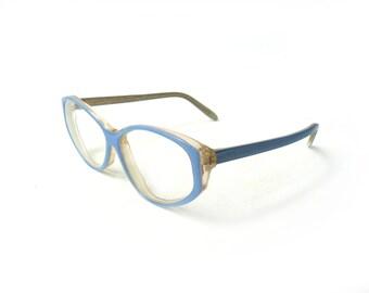 Vintage blue reading glasses, spectacle frames, hipster glasses, sun glasses, light blue frame plastic, light blue eyewear, blue eyeglasses