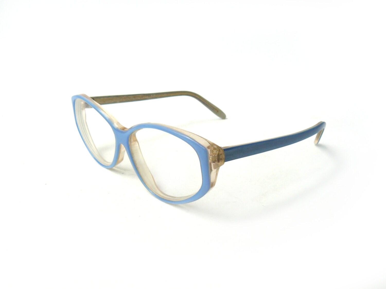 Vintage blue reading glasses spectacle frames hipster
