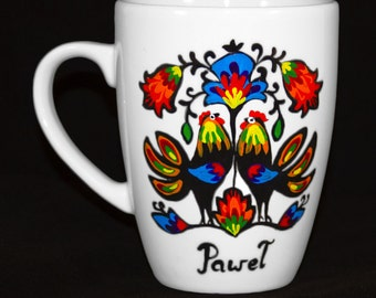 Pawel Rooster Polish Folk Mug