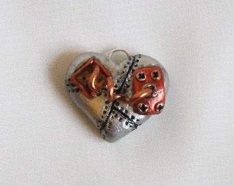 Handmade cute steampunk heart