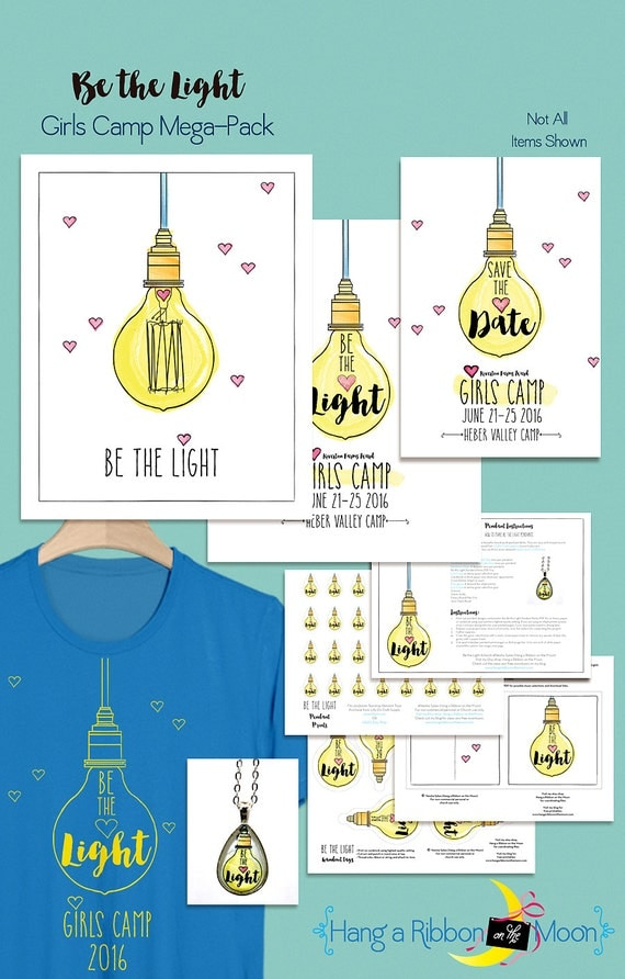 Be the Light: LDS Girls Camp Mega Pack NON CUSTOMIZED
