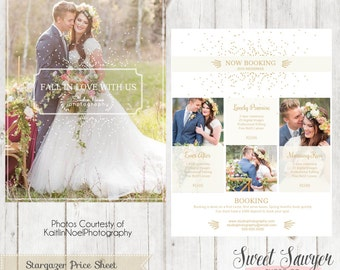INSTANT DOWNLOAD - Wedding Photography Price List Template for Photography Marketing or Wedding Price List Template