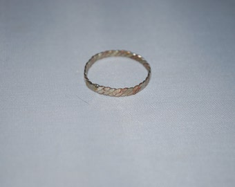 Sterling silver and copper band ring size 7.75.