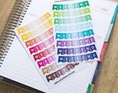 16 repositionable weekend stickers, banner stickers, flag stickers, life planner stickers, bunting, erin condren planner stickers