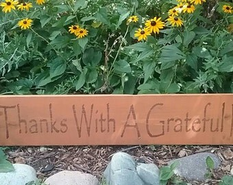 Give Thanks With A Grateful Heart Wood Sign