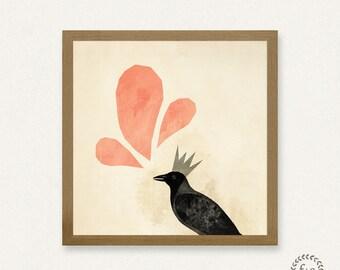 Crow - Printable Art (8x8)