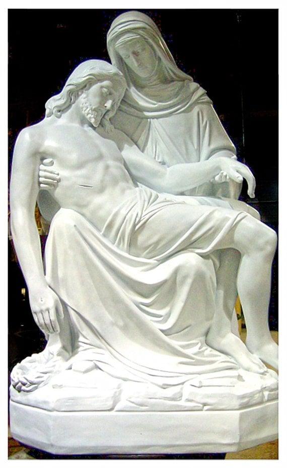 "Pieta 56"" Fiberglass Jesus Mary Catholic Christian Religious Statue"
