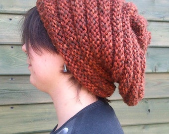Brown Beannie Cap, Brown Head, Yarn Cap