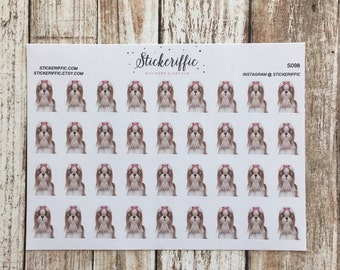 S098  Lhasa Apso Dog Stickers for your Planner, Journal, or Scrapbook