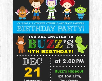 Toy Story Invitation, Toy Story Birthday Invitation, Toy Story Invite, Toy Story Party