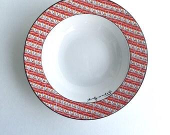 Vintage Andy Warhol Pop Art 100 Cans Soup Bowl