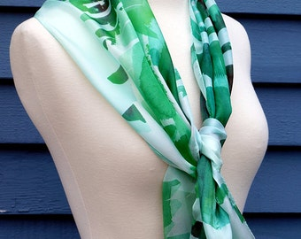 Silk Scarf: Emerald