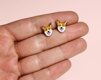 Corgi dog Stud Earrings Pembroke Welsh Corgi dog Stud Earrings Animal stud Animals earring Dog earrings Gift