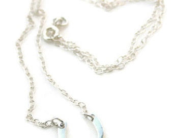 Sterling silver horseshoe necklace, lucky charm dainty necklace