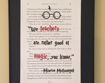 We teachers are rather good at magic, you know;  Harry Potter Page Art