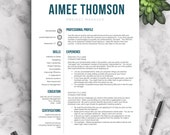 Creative Resume Template for Word & Pages | 1, 2 and 3 Page Resume Templates | Resume Template, Icon Set, Cover Letter, Tips | Modern Resume